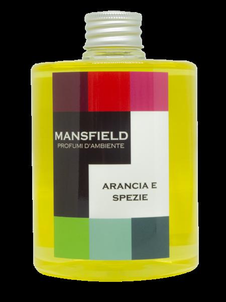 MANPAARAREF - REFILL 500 ML CON BASTONCINI AMBRA NERA REFILL 500 ML ARANCIA E SPEZIE