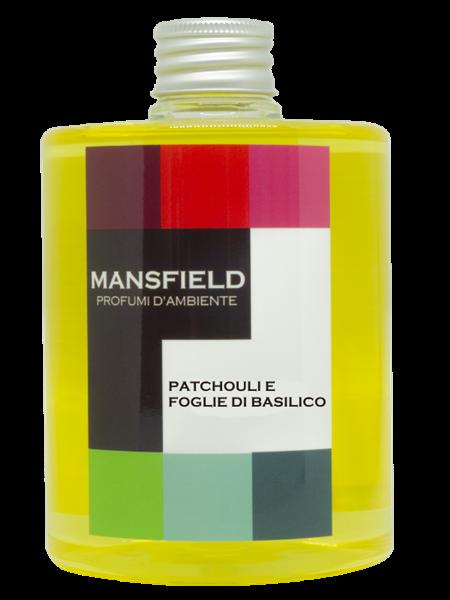 MANPAPATCHREF - REFILL 500 ML PATCHOULI E FOGLIE DI BASILICO CON BASTONCINI REFILL 500 ML PATCHOULI E FOGLIE DI BASILICO
